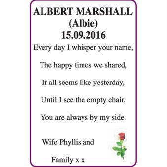 ALBERT MARSHALL (Albie)