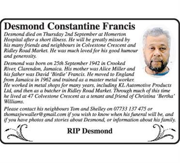DESMOND FRANCIS