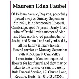 Maureen Edna Faubel