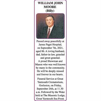 WILLIAM JOHN MOORE (Billy)