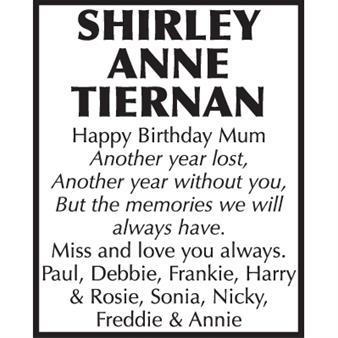 Shirley Ann Tiernan